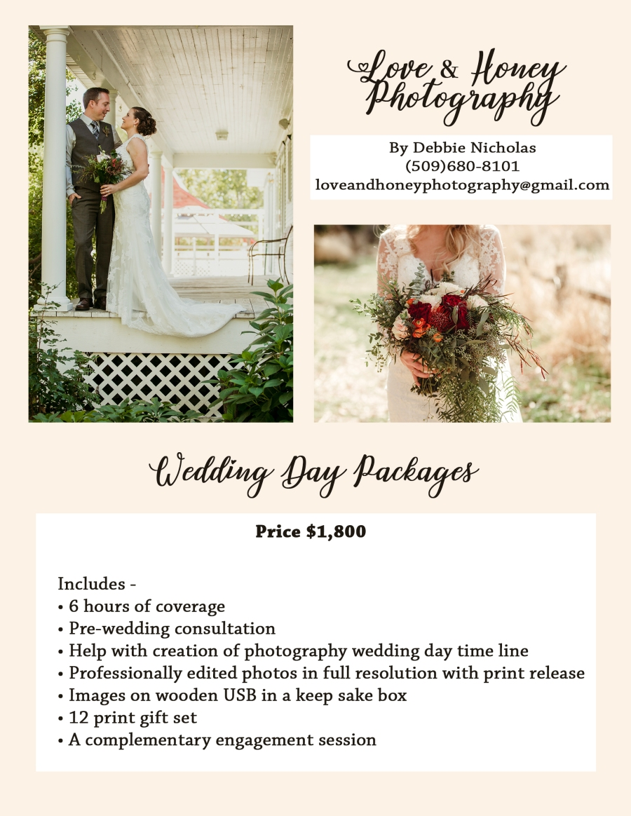 wedding prices page 1