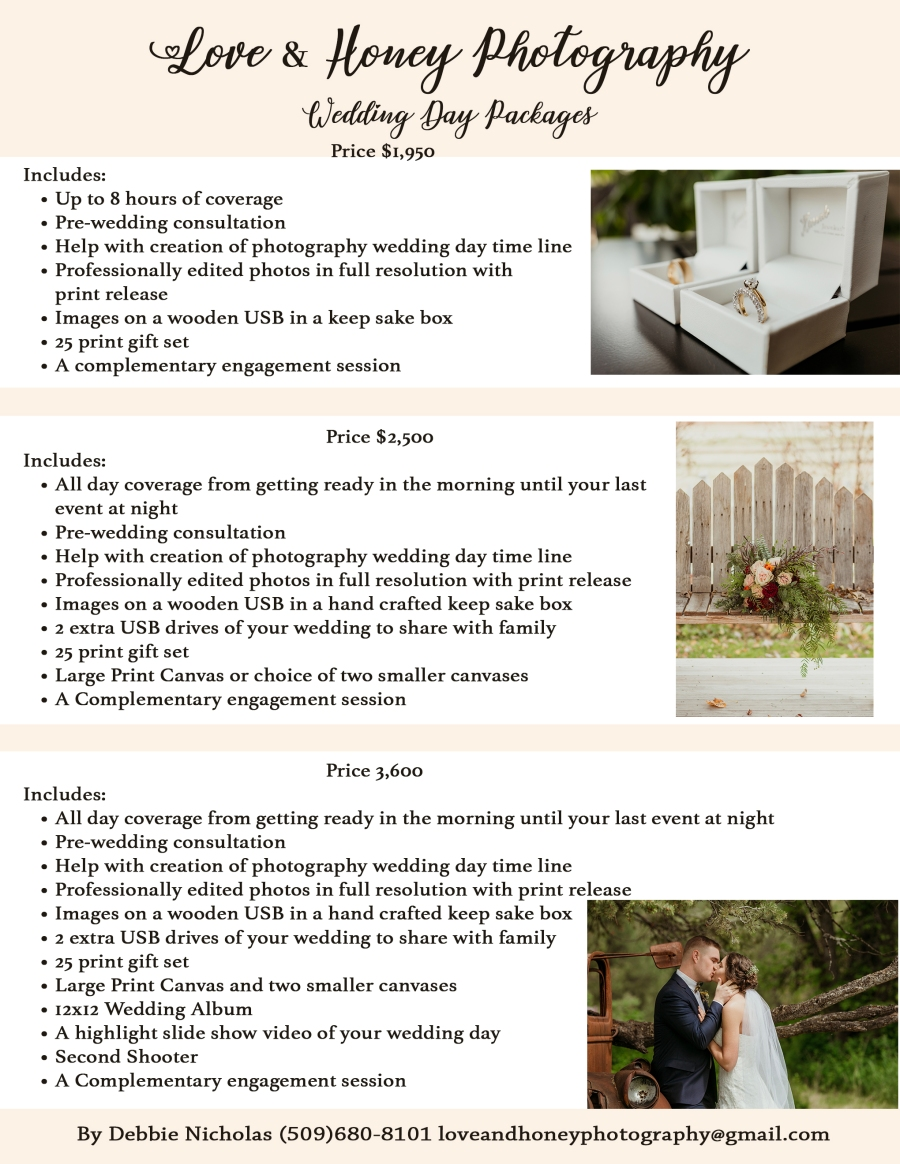 wedding prices page 2
